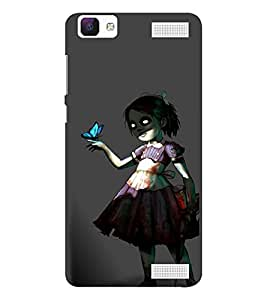 EPICCASE Scary Girl Mobile Back Case Cover For Vivo V1 Max (Designer Case)