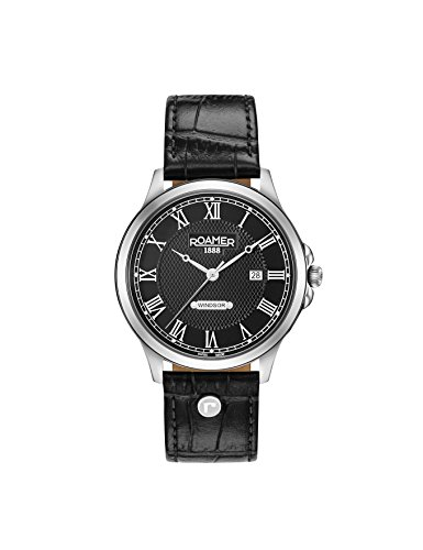 Roamer Herren Datum klassisch Quarz Uhr mit Leder Armband 706856 41 52 07