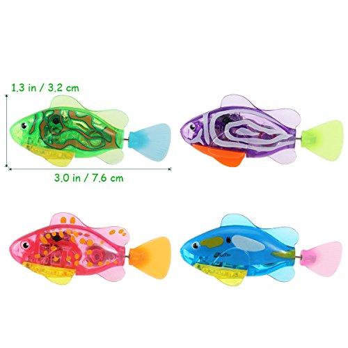 TOYMYTOY 4 Stück Kinder Roboter Fische Elektronische Spielzeug - 5