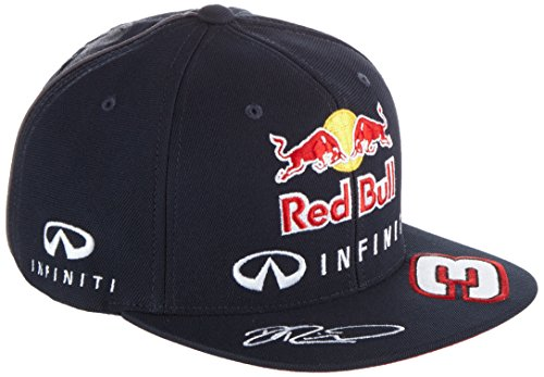 Red Bull Racing Herren IRBR Ricciardo Flat Cap 2015, Total Eclipse, One Size