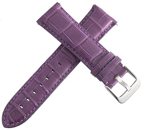 Ernst Benz Damen-Armbanduhr Platz Lila Alligator Leder Band Silber Ton Schnalle 22mm