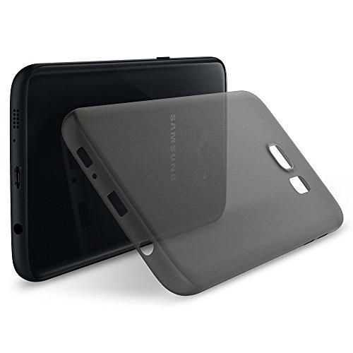 Samsung Galaxy S7 Edge Hülle, Spigen® [Air Skin] Ultra Slim [Schwarz] Dünn Federleicht Matte Lichtdurchlässig Semi Transparent Handyhülle / Maßgeschneiderte Passgenau Form & Perfekter Sitz Hardcase Schutzhülle für Samsung S7 Edge Case Samsung Galaxy S7 Edge Cover - Black (555CS22316)