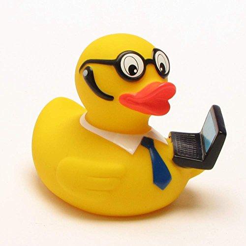 Preisvergleich Produktbild Badeente Lutz Laptop Workaholic Ente mit Headset