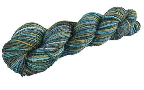 Manos del Uruguay Silk Blend Fb. SB7325 - Pisces, 50g Merinowolle mit Seide, handgefärbt mit wunderschönem Farbverlauf, Wolle mit Seide zum Stricken -