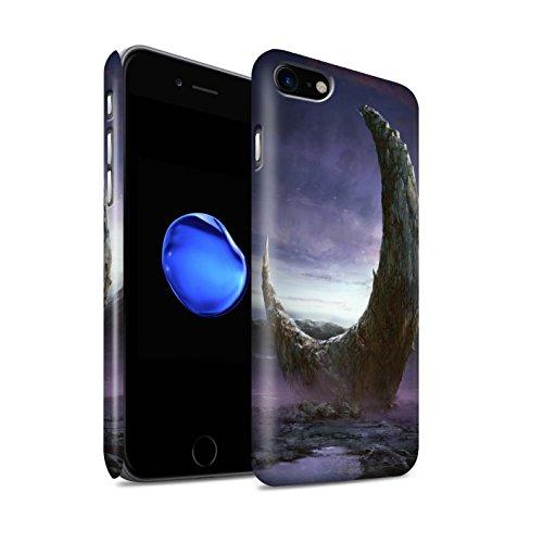 Offiziell Chris Cold Hülle / Matte Snap-On Case für Apple iPhone 8 / Chaos Entfesselt Muster / Fremden Welt Kosmos Kollektion Zerbrochenen Mond