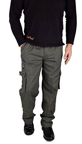 IWEA Herren Cargohose Outdoor Freizeithose Arbeitshose Cargo Hose Lang  Trekkinghose Casual Pants IW061 (M, 96535ff8a4