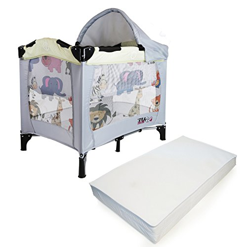 iSafe Mini Travel Cot With Bassinet And Canopy – Smiley And Cuddly 81 x 56 x 84 cm Complete With Mattress 41xWjd 2BXWEL