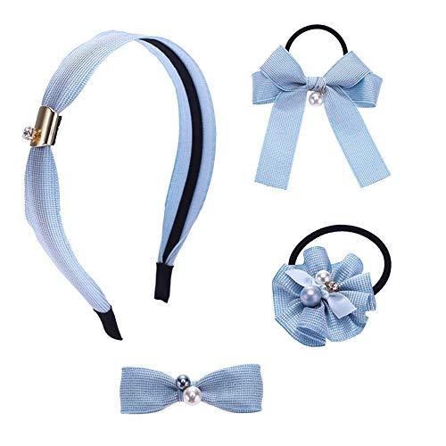 Zhongsufei Baby Kinder Mädchen Haarspangen Kopfschmuck Koreanische Haarschmuck Set Haarnadel Stirnband Mädchen Tiara Exquisite Schmuck. Cosplay Kopfbedeckungen (Farbe : Blau) (Blue Halloween-spiel Baby)