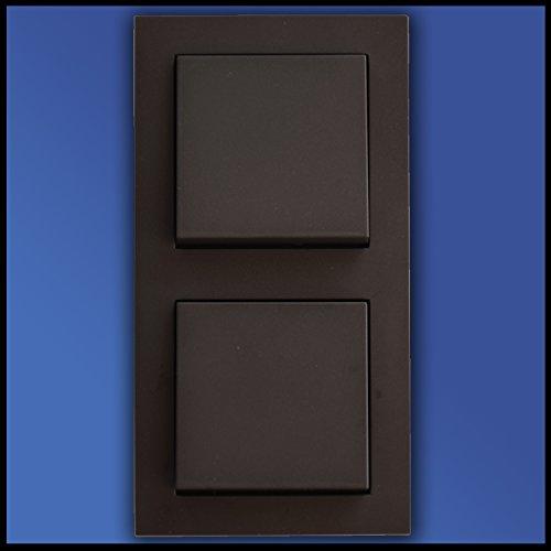 Preisvergleich Produktbild GIRA Komplett Set 2fach Kombi - Wippschalter + Wippschalter - Farbe/Form (Standard 55/E2) wählbar / 2 x Wippschalter 010600 + 2 x Schalterabdeckung 029628 + 2f Rahmen 021223
