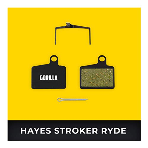 Hayes Bremsbeläge Stroker Ryde Ryde Comp & Radar für Fahrrad Scheibenbremse I Hohe Bremsleistung I Langlebiger & Passgenauer Bremsbelag I Organischer Belag