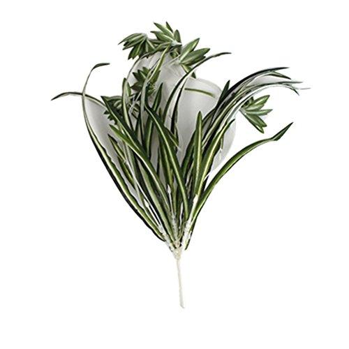 Galleria fotografica Ounona, 2 piante ragno finte con foglie di seta per edera, vite, fogliame, mazzo di plastica, decorazione per casa, festa