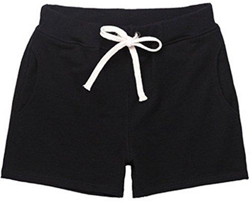 La vogue Damen Sommer Shorts Sport Hot Pants Badeshorts Schwarz