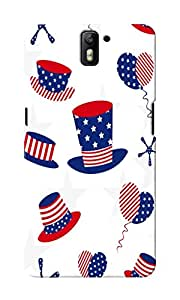 KnapCase American Abstract Designer 3D Printed Case Cover For OnePlus One