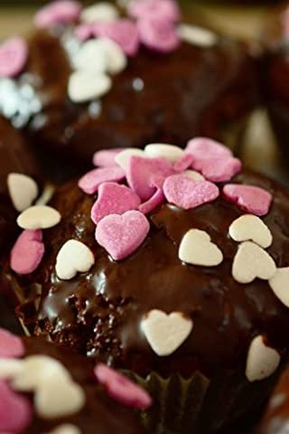 Chocolate Cupcakes with Pink and White Hearts Journal: Take Notes, Write Down Memories in this 150 Page Lined Journal