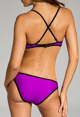 CASPAR BIK005 Damen Bandage Bikini Set weiss-mint / lila WP