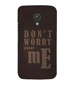 EPICCASE fashion quote Mobile Back Case Cover For Moto G 2nd Gen (Designer Case)