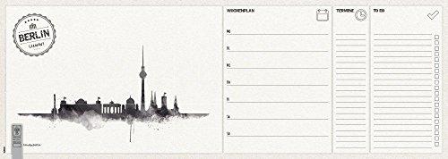 Notizblock 'Wochenplaner - Berlin' | Schreibtischunterlage | Wochenkalender | 52 Blatt | 45 x 16 cm...