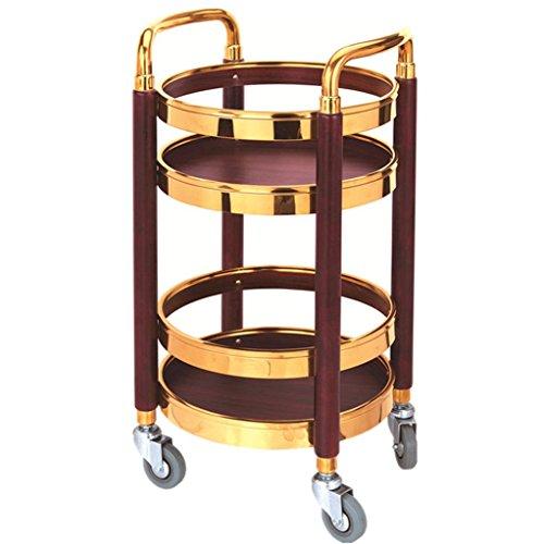 QY- Trolley - Weinwagen Snack Car Mobiler Teewagen Hotel Weinwagen Kinderwagen Beauty Werkzeugständer Trolley (Farbe : SCHWARZ)