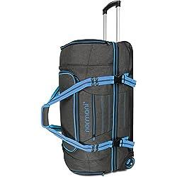 normani Reisetasche Reisetrolley mit Rollen 90 oder 120 Liter Volumen mit Verschiedenen Fächern Farbe Blau Größe 120 Liter