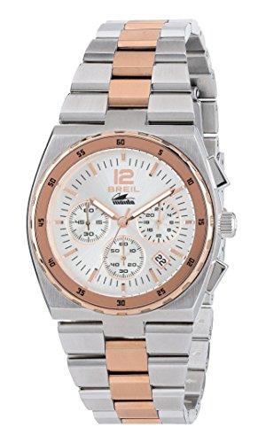 Breil - orologio cronografo da donna manta sport tw1690 - quadrante monocolore con datario - cassa 38mm e cinturino in acciaio - movimento al quarzo chrono - silver e rose gold