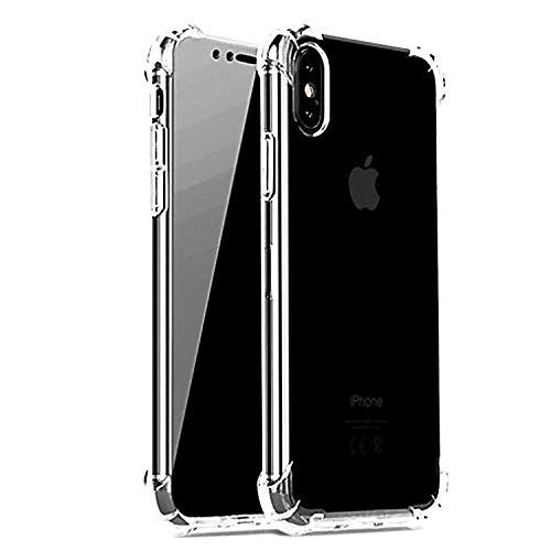 iBarbe Schutzhülle für iPhone XR, 15,1 cm (15,1 Zoll) Display, transparent, Kratzfest, stoßdämpfend, verstärktes TPU, Hybrid-Polster, Grau, 10xs Screen Tempered Glass Full xs Privacy to, farblos - Protective Matte