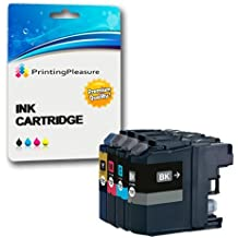 4 XL (FULL SET) Compatible LC3219XL Ink Cartridges for Brother MFC-J5330DW MFC-J5335DW MFC-J5730DW MFC-J5930DW MFC-J6530DW MFC-J6930DW MFC-J6935DW - Black/Cyan/Magenta/Yellow, High Capacity (Black: 3,000 Pages & Cyan, Magenta, Yellow: 1,500 Pages)