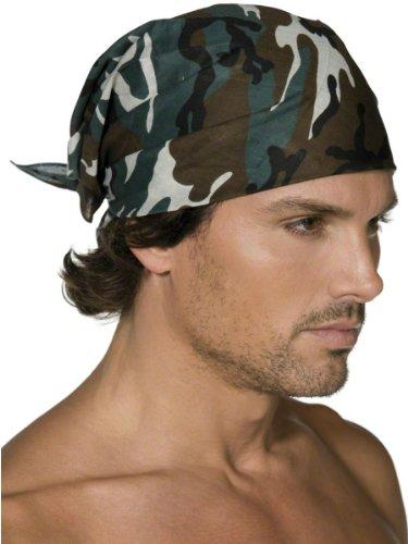 Smiffys Karneval Kostüm Zubehör Bandana Militär Camouflage zu Uniform Soldat (Militär Kostüm Zubehör)