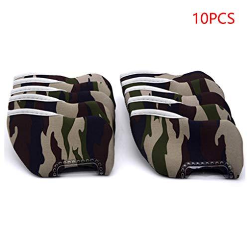 Provide The Best 10Pcs Camouflage Golf Club Head Cover Wedge Eisen Schutzschlägerhauben -