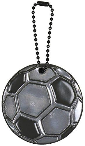 moses. Glimmis Reflektor Fußball | Beidseitig reflektierend | Grau (Persönliche Reflektoren)