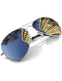 4sold - Lunettes de soleil -  Homme Noir aviator silver