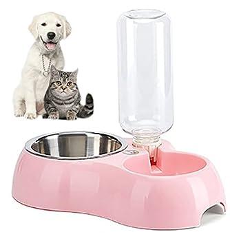 Weihi pour animal domestique Chien Mangeoire Bol et Cat Eau bols 2en 1Fonction de Atlanta avec Skidproof support automatique Distributeur d'eau Grande taille