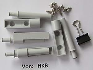 Anschlagdämpfer für Möbeltüren, zum Anschrauben, grau, 4 Stück, 40378, (Neu 62503)