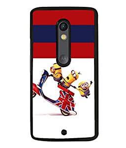 printtech Minions Scooter Back Case Cover for Moto X Pure Edition