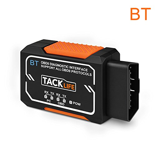 OBD2 Auto-Scanner, Tacklife AOBD1B Diagnose-Scanner mit OBDII, Bluetooth-Scanner und PIC18F2480 Chip für Android, 3000 Code-Datenbank, Fehlerspeicher lesen und löschen, geeignet für die meisten Autos (Aus Löschen)
