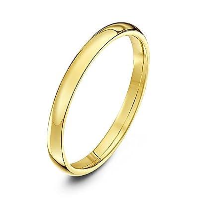 Theia Unisex Heavy Court Shape Polished, 9 ct Gold Wedding Ring