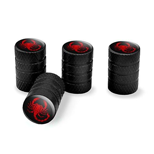 Grafiken und mehr Rot Tribal Scorpion Tire Rand Rad Aluminium Ventil Stem Endkappen–Schwarz