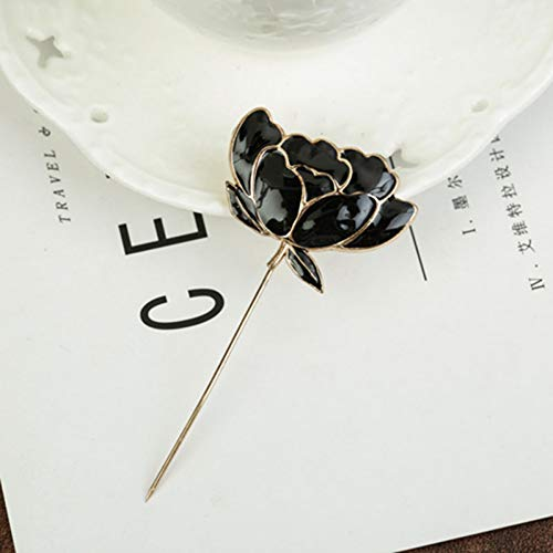 MYHMG Brosche Gold Metal Lotus Leaf Enamel Brooch Female Clothes Shirt Simulated-Pearl Brocade Sweater Shawl Buckle Pins Jewelry -
