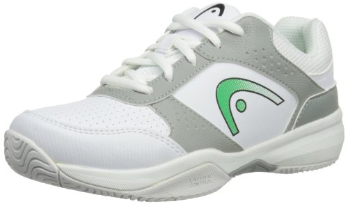 HEAD Lazer Jr Whgg, Chaussures de Tennis mixte enfant White/Green/Grey