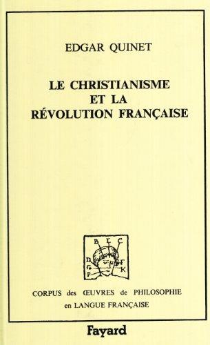 Le Christianisme et la révolution française, 1845