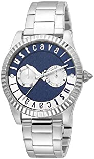 Just Cavalli XL Ladies Blue Dial Stainless Steel Analog Watch - JC1L134M0065