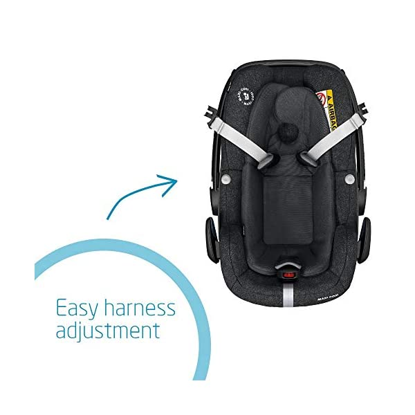 Maxi-Cosi Pebble Plus Baby Car Seat Group 0+, ISOFIX Car Seat, i-Size, 0-12 m, 0-13 kg, 45-75 cm, Nomad Black Maxi-Cosi Baby car seat, suitable from birth to approximate 1 year (0-13 kg, 45-75 cm) Fits with compatible Maxi-Cosi base unit for ISOFIX installation i-Size for enhanced safety and optimal protection against side impacts 4