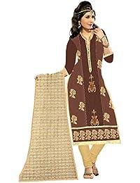 MAHI FASHION Women's Cotton Dress Material (MF34_Free Size_Multi-Coloured)