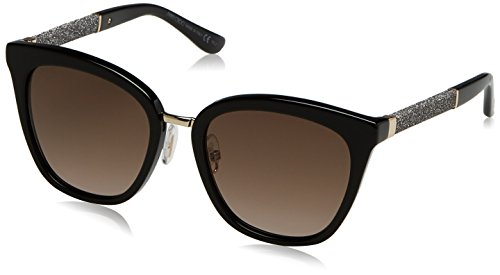 0bc6dbe60e Jimmy Choo Fabry/S FA3 Black Glitter Fabry/S Round Sunglasses Lens Category  2