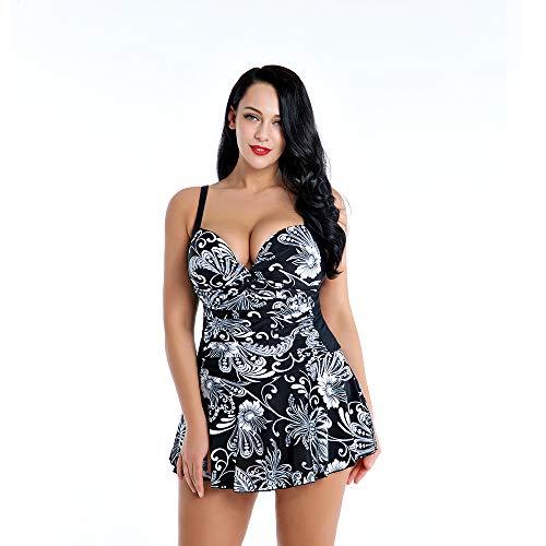 Yuyudou Bañadores de Mujer Talla Grande Sexy V-Cuello de 2 PiezasTraje de BañoBikinis Swimwear Playa...