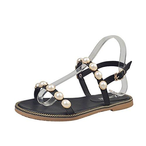 Sommer-wort mit einer schnalle sandalen/Flach mit offenen zehensandalen A