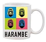 KRISSY Harambe Gorilla 4 Colours Colorful caffè Tazza Coffee Mug Cup