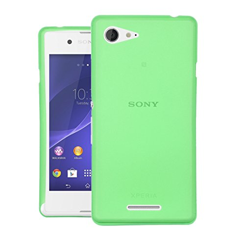 CUBIX® Sony E3 Dual Case, Hard (Semi Transparent) Super Slim Matte Back Cover For Sony Xperia E3 Dual (Green)  available at amazon for Rs.199