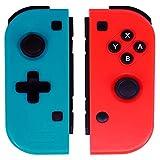 Switch Joy-Con Controller, Ignatv Joy-con Joystick für Nintendo Switch, 2er-Set Rot/Blau für NS (drittes Produkt) -Red (R)/Blue (L)