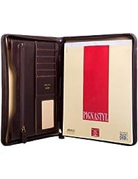 Maxwell Scott® Conférencier A4 Cuir Italien (Dimaro)