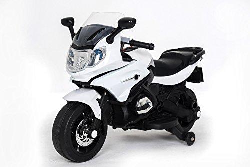 Kinderfahrzeug - Elektro Kindermotorrad mit 2 Motoren - Modell 558 - Weiss